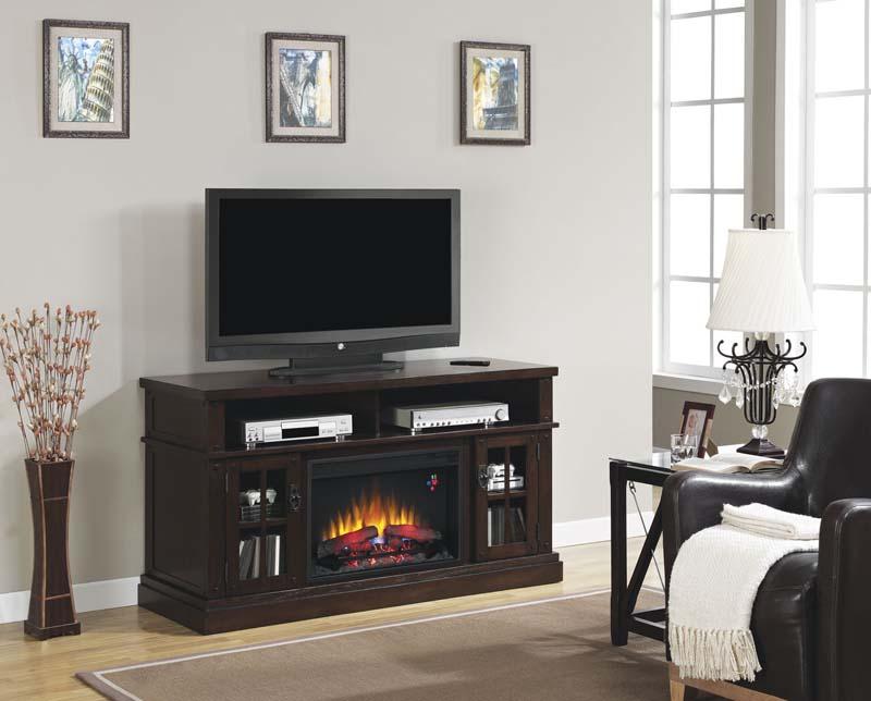 Dakota Deluxe Caramel Oak Media Mantel Electric Fireplace - Mantel electric fireplace