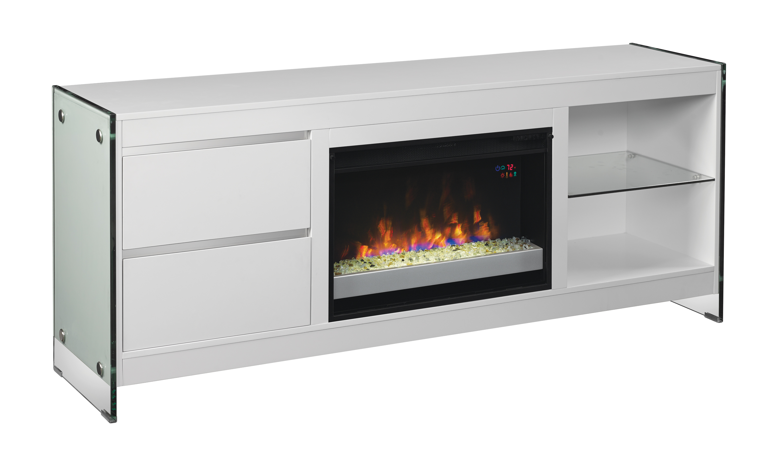 """72"""" Biscayne Infrared Media Electric Fireplace"""