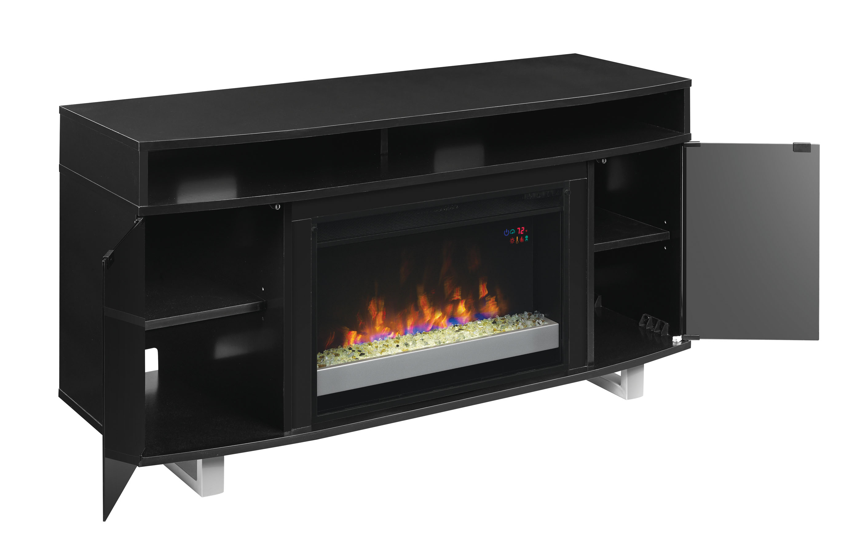 56 Quot New Enterprise Lite Infrared Media Electric Fireplace