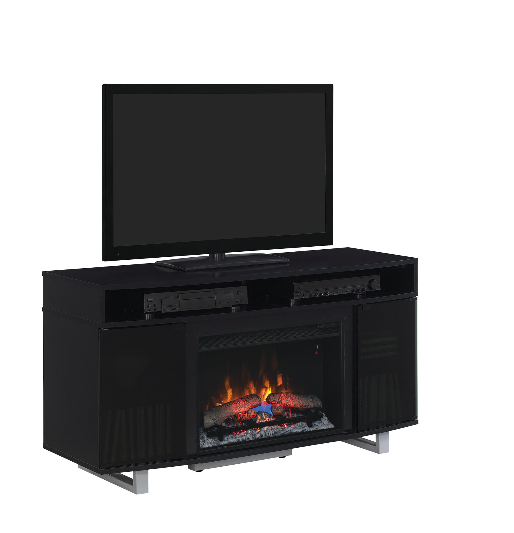 56 New Enterprise Lite Black Infrared Media Electric Fireplace