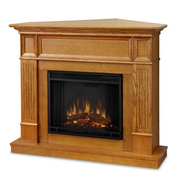 45 Cameron Oak Convertible Electric Fireplace