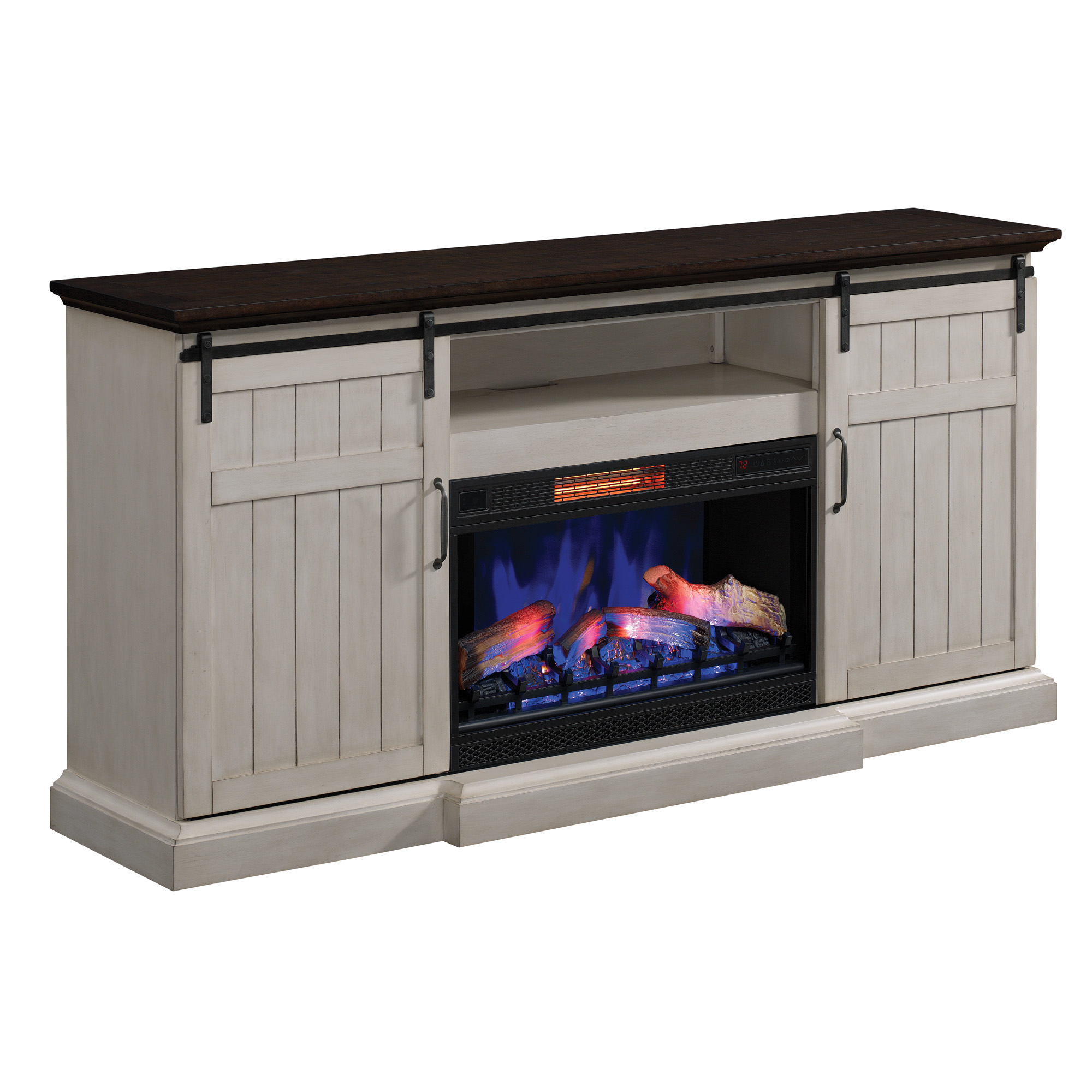 fireplace for up digital tvs media to mainstays ip
