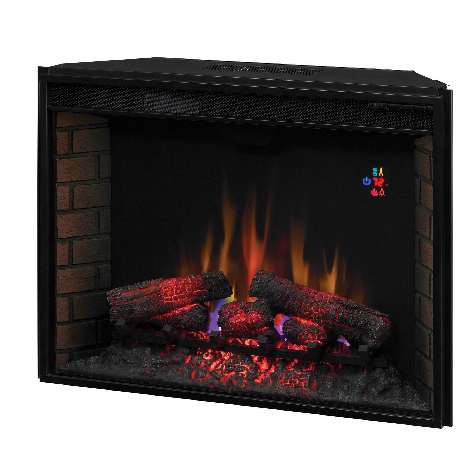 34 1 Classicflame Spectrafire Curved Electric Fireplace Insert Portablefireplace