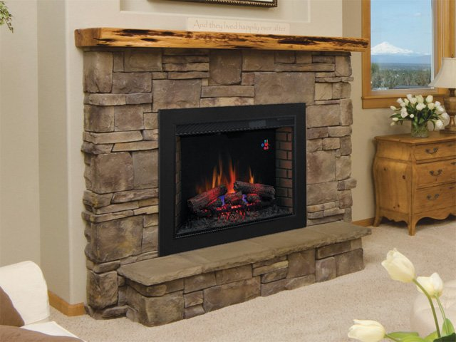 Classic Flame SpectraFire Curved Electric Fireplace Insert - A Guide To Convert A Gas Fireplace To An Electric