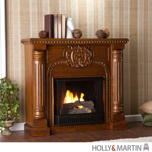 Holly & Martin™ Carino Antique Oak Gel Fireplace