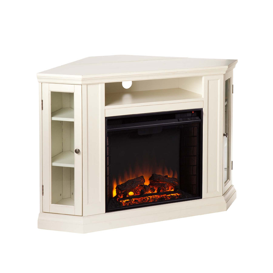 48 Claremont Convertible Media Electric Fireplace Ivory