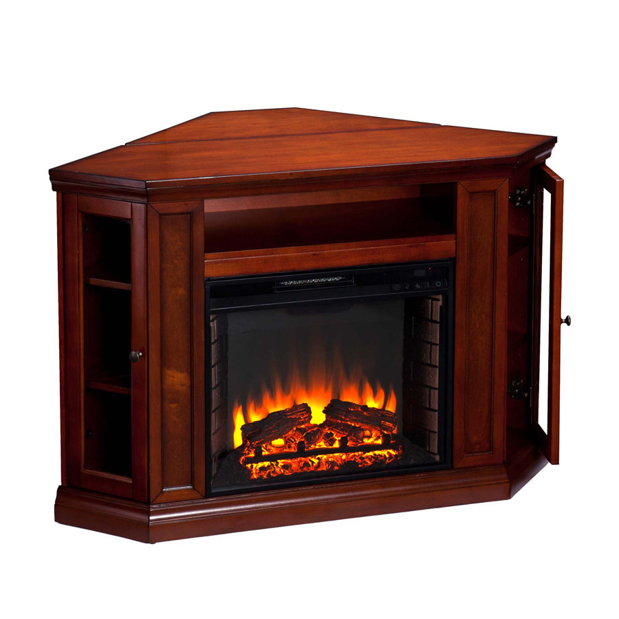 48 Claremont Convertible Media Electric Fireplace Brown Mahogany Fe9316