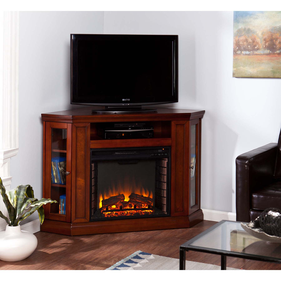 48 claremont corner media infrared fireplace brown mahogany fi9316 standard firebox teraionfo