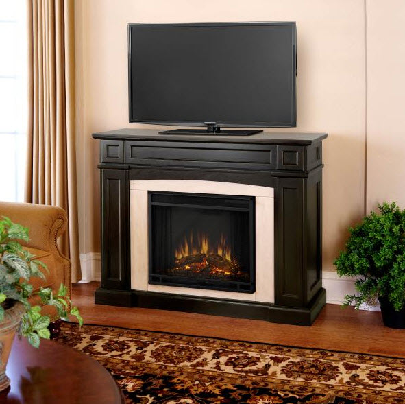 Rutherford MediaCenter Fireplace with Secret Drawers
