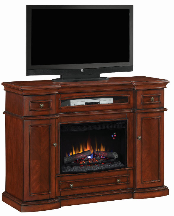 montegomery vintage cherry center electric fireplace - Electric Fireplace Heaters