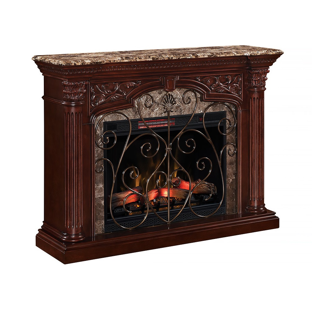 Grand Cherry Scroll Fireplace Fireplaces