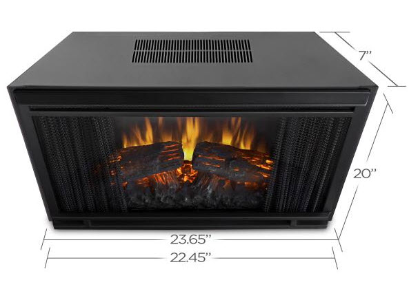 If you are looking to build a custom fireplace mantel and would still like an electric firebox as the main source of heat