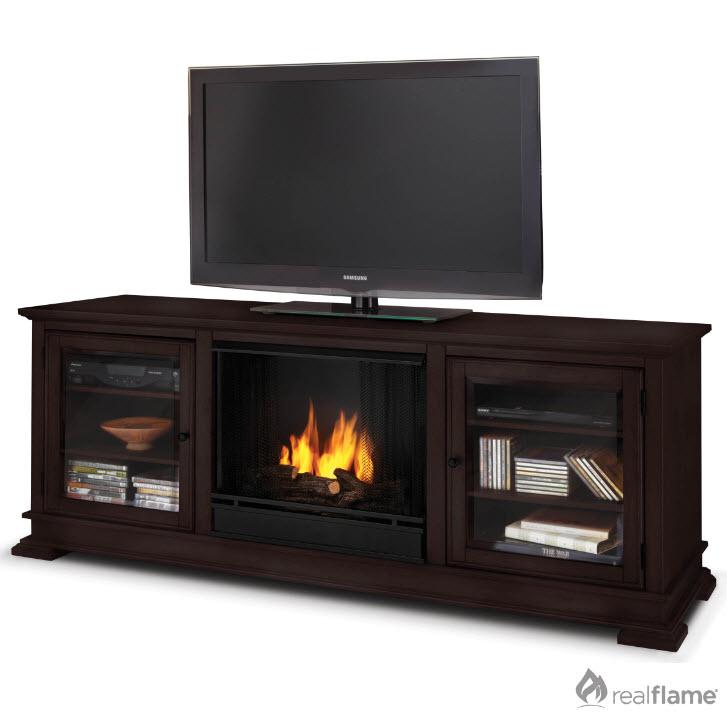 Hudson Espresso Gel Fuel Fireplace