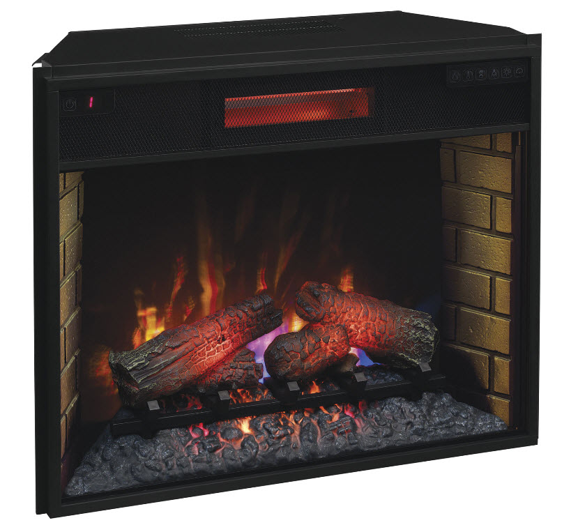 Infrared fireplace insert