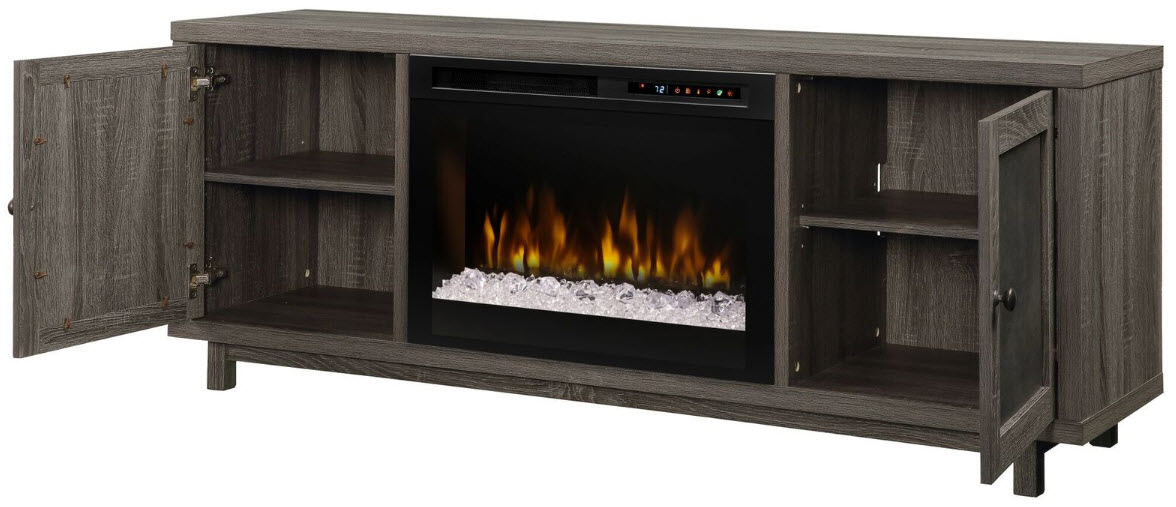 65 Quot Dimplex Jesse Media Console Electric Fireplace With