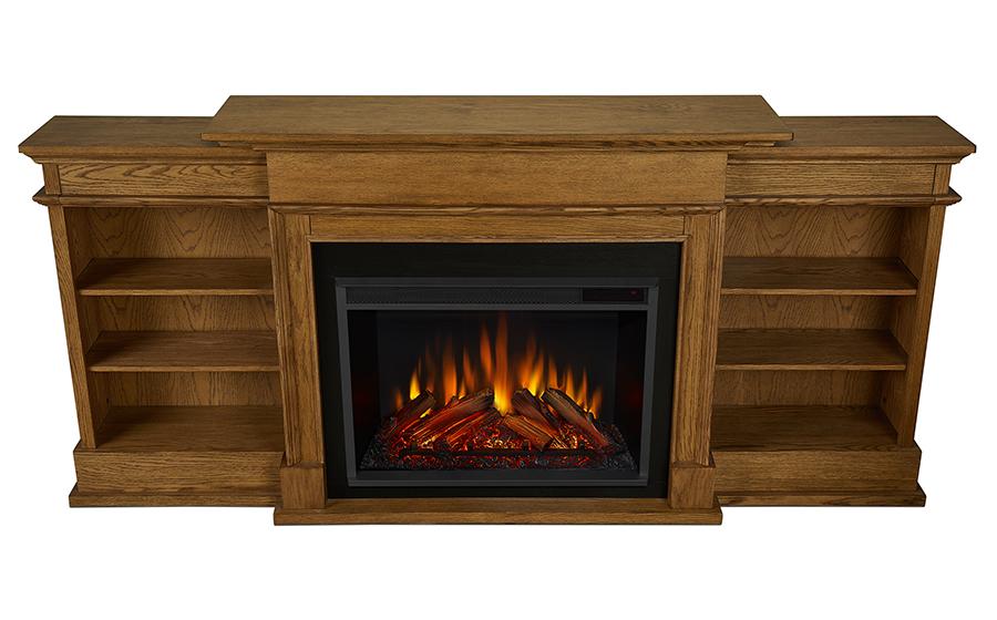 92 Ashton Grand English Oak Electric Fireplace