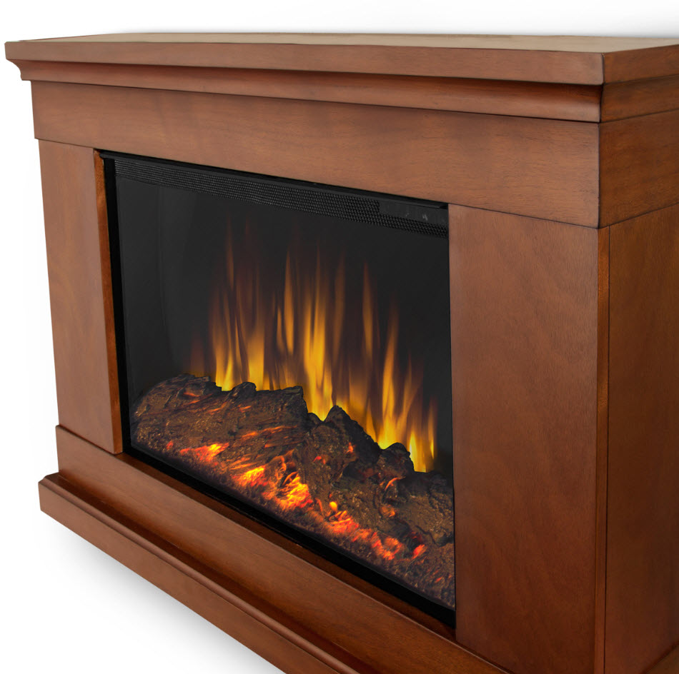 38 4 jackson pecan slim electric fireplace