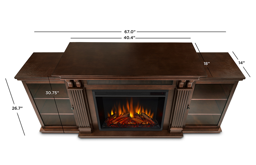 Espresso Electric Fireplace Dimensions
