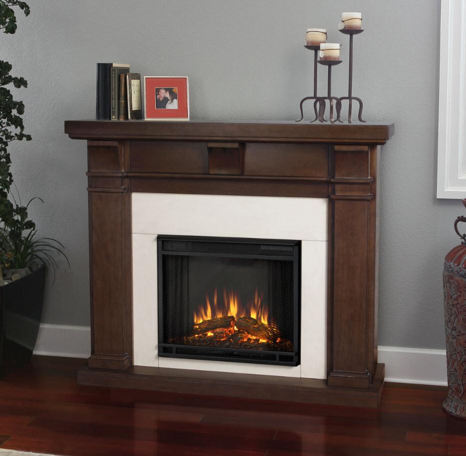 49 9 porter vintage black mahogany slim electric fireplace