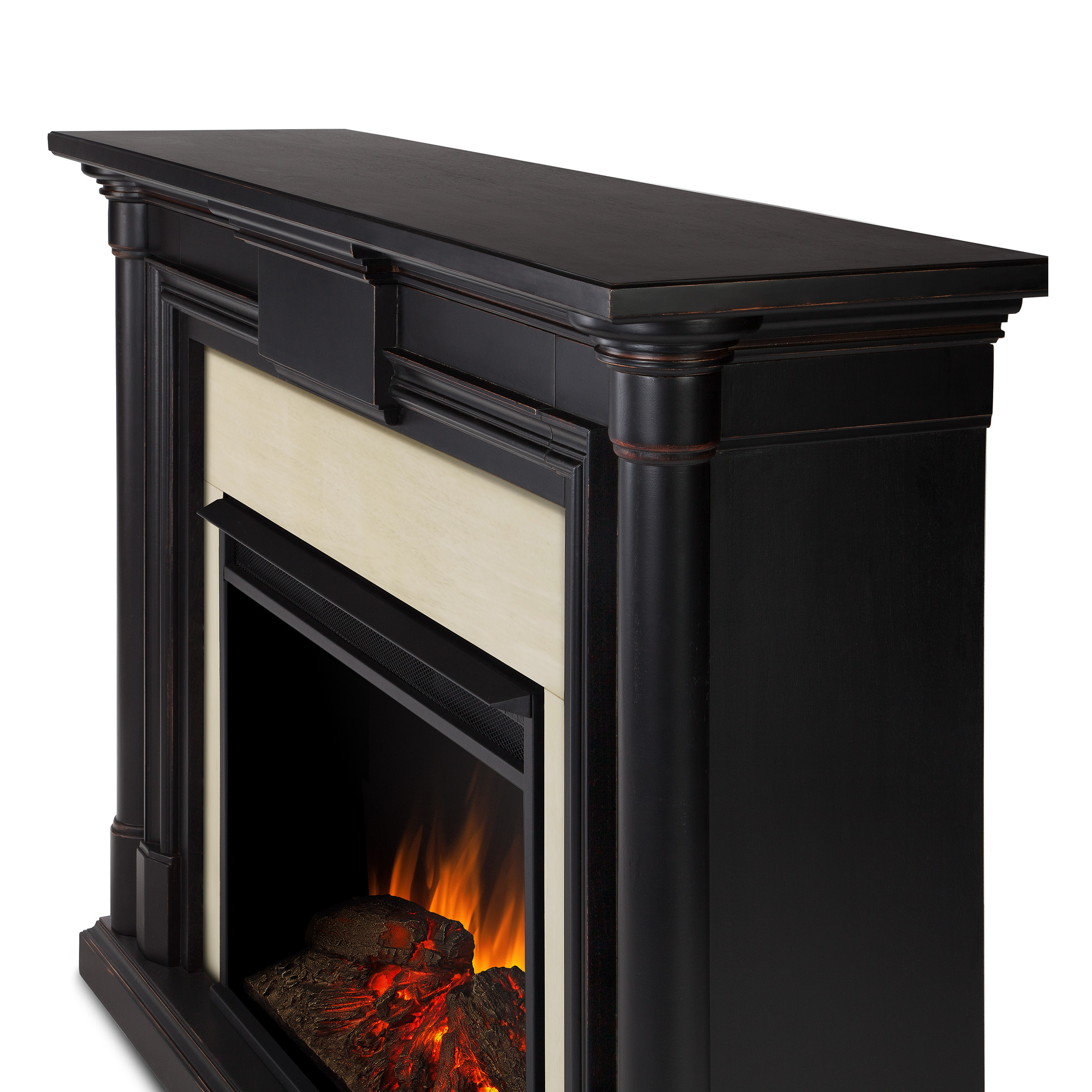 with furniture signature wide stand large ashley insert design by fireplace electric tv