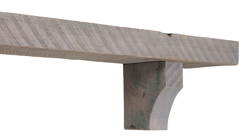 60 Quot 72 Quot Solid Reclaimed Driftwood Finish Pine Mantel Shelf