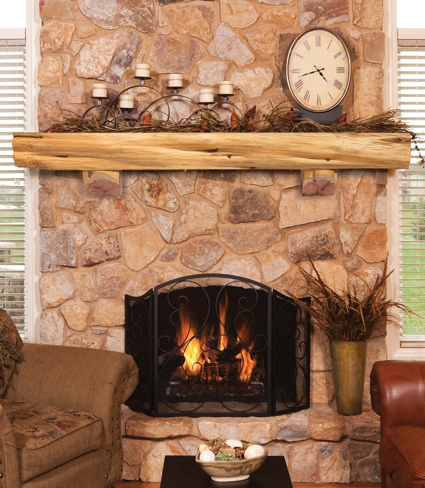 cedar log mantel 60 72 84 solid cedar live edge natural cedar log