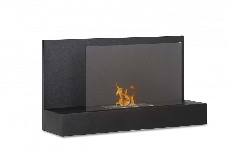 35 4 Quot Ignis Ater Bk Wall Mounted Ventless Ethanol Fireplace