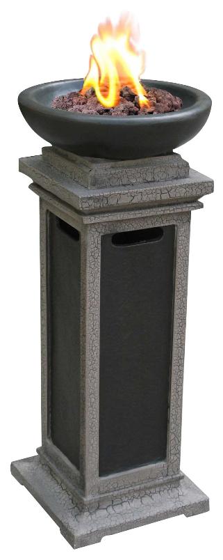 29'' Ravenswood Column Outdoor Gas Firebowl