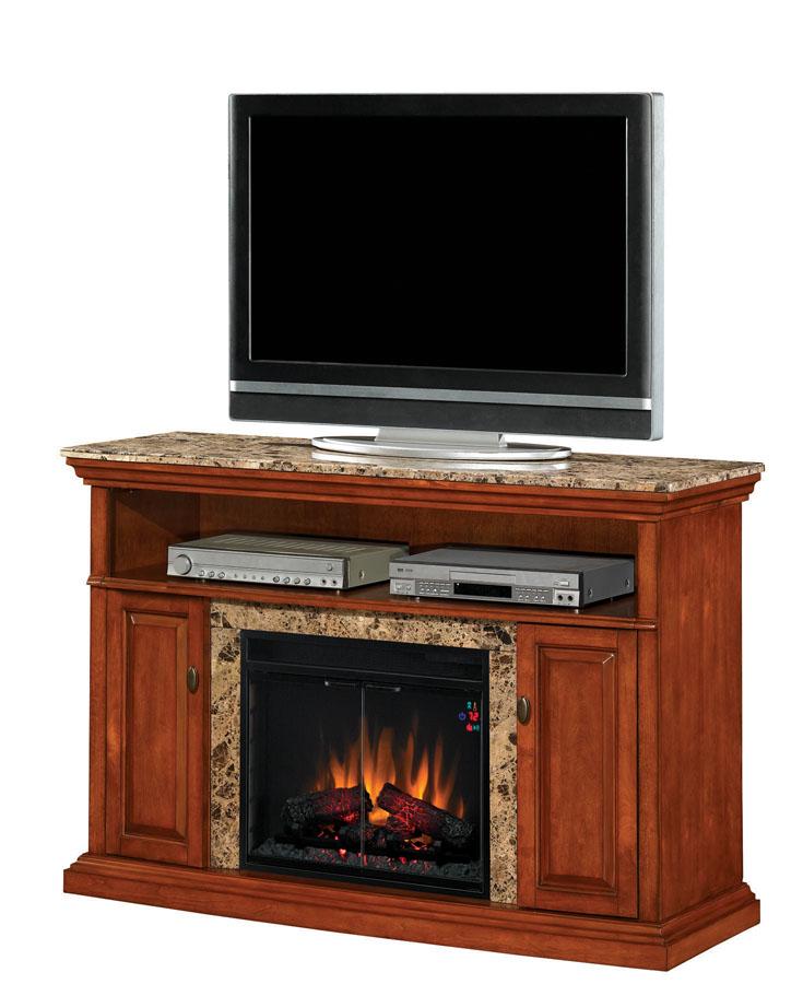 Fireplace Design entertainment center with fireplace : 56'' Briteton Golden Honey Marble Entertainment Center Electric ...