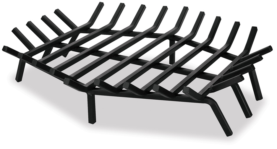 The Hex Shaped Fireplace Bar Grate gives a unique look and depth to any firepit or fireplace.  Place inside your existing fireplace to give it a simple renovation.  This piece comes in varying sizes to fit your fireplace