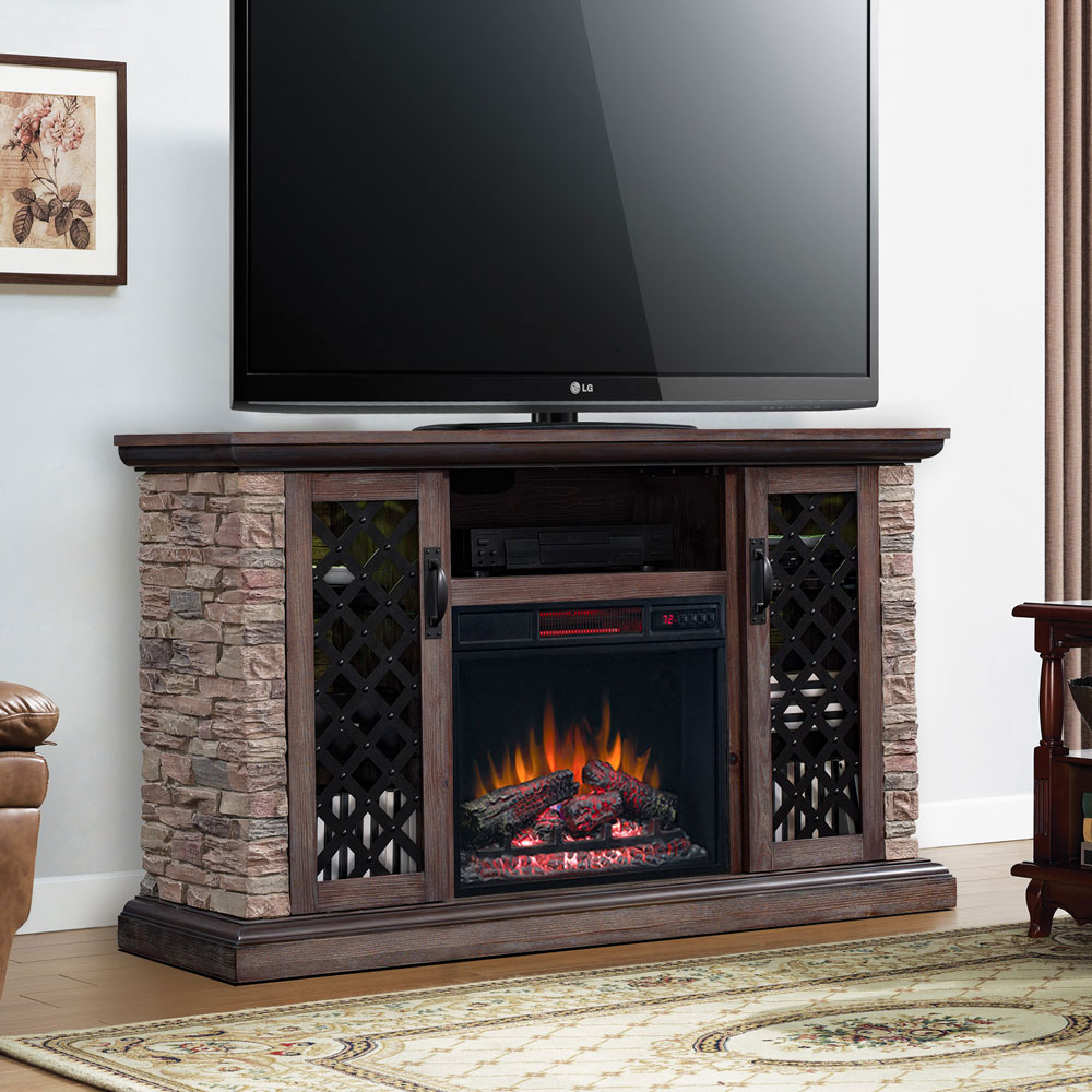 "59"" Capitan Premium Cocoa Media Infrared Electric Fireplace"
