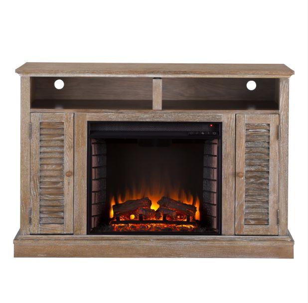 "48"" Antebellum Electric Fireplace TV Stand Burnt Oak"
