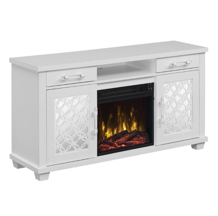 52 Dont Fret White Tv Stand Electric Fireplace