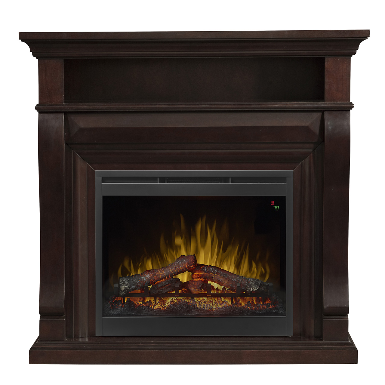 47 1 4 Dimplex Noah Espresso Media Console Mantel Electric Fireplace