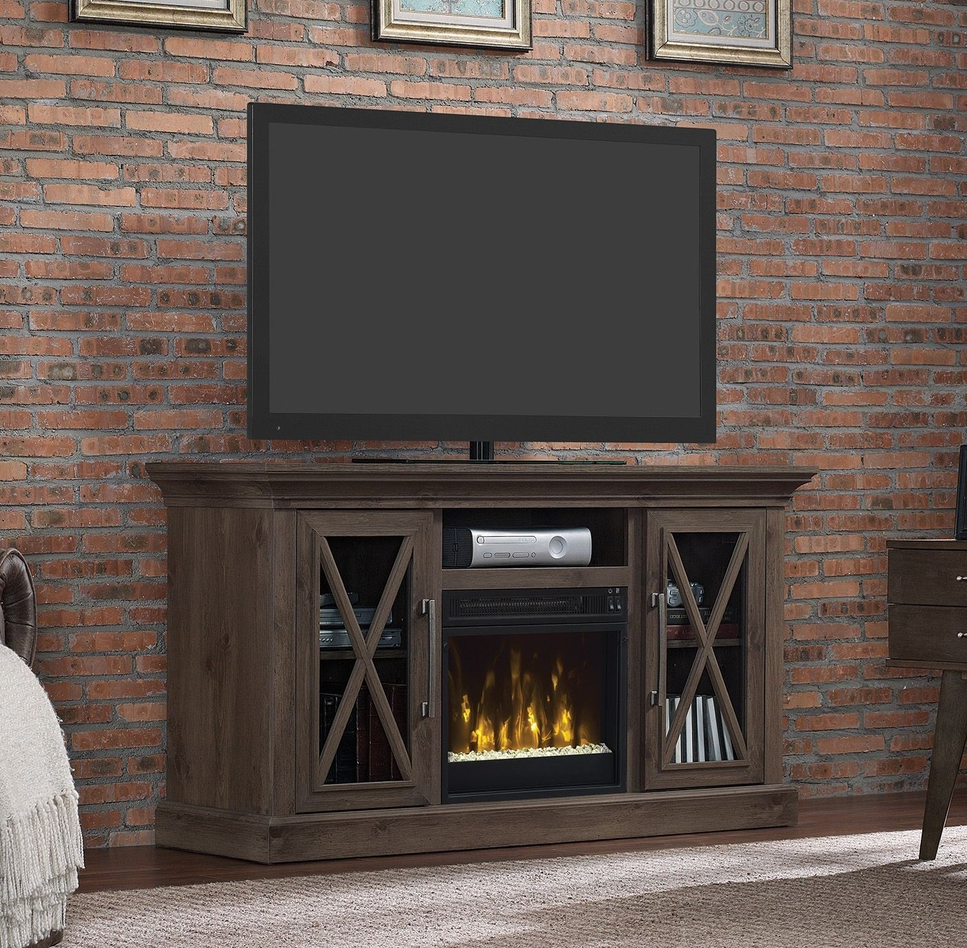 black touchstone home heat fireplace electric inc valueline products wide recessed crystal wall logset color inch