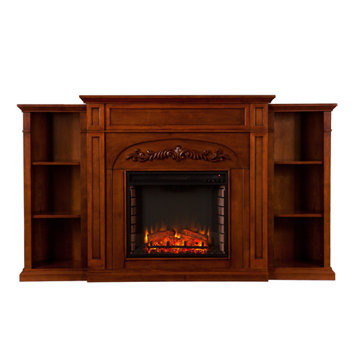 72 5 Chantilly Bookcase Electric Fireplace Autumn Oak Fe8532 Fi8532