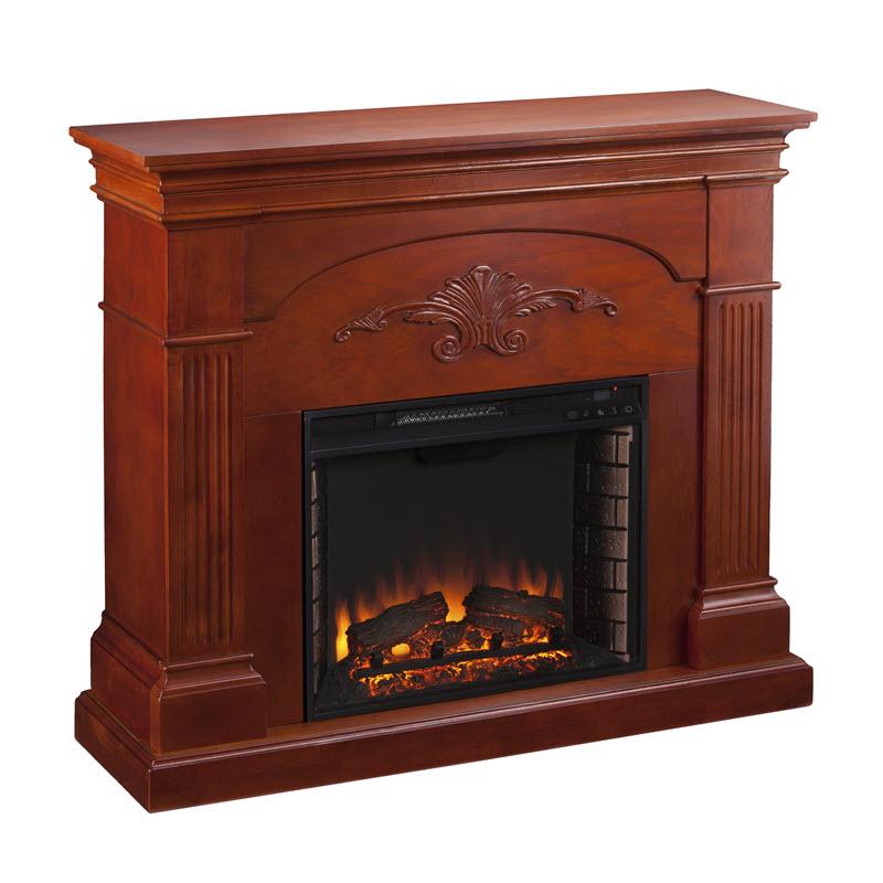 "44 75"" Sicilian Harvest Mahogany Electric Fireplace FE9277"
