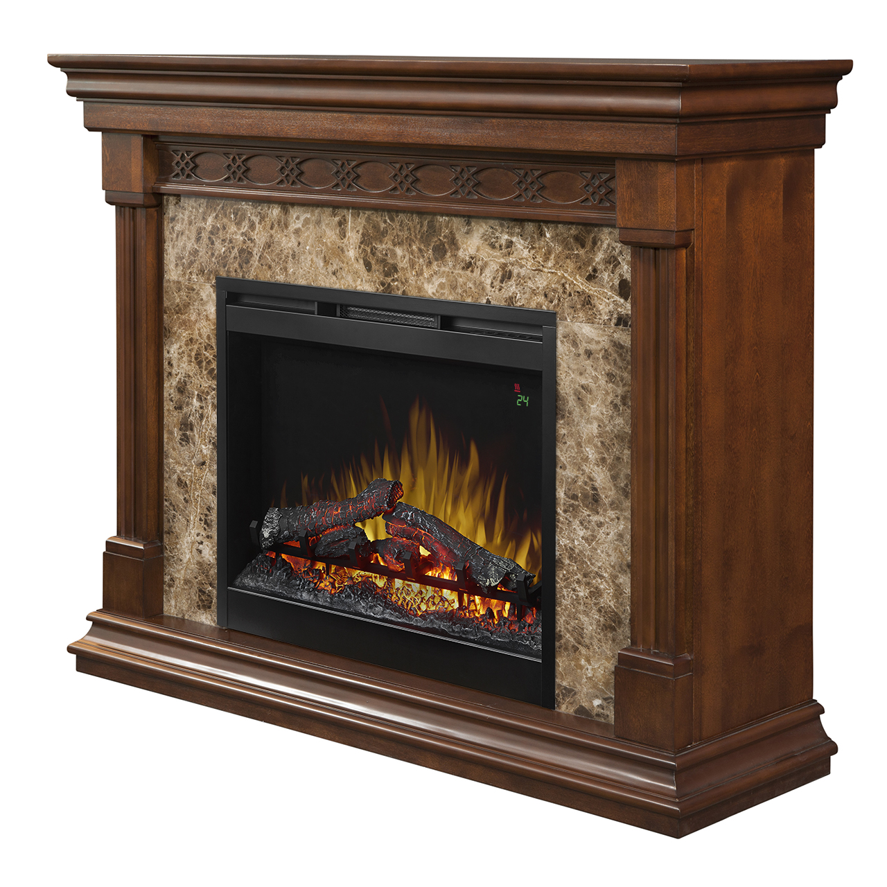 51 Dimplex Alcott Mantel Electric Fireplace