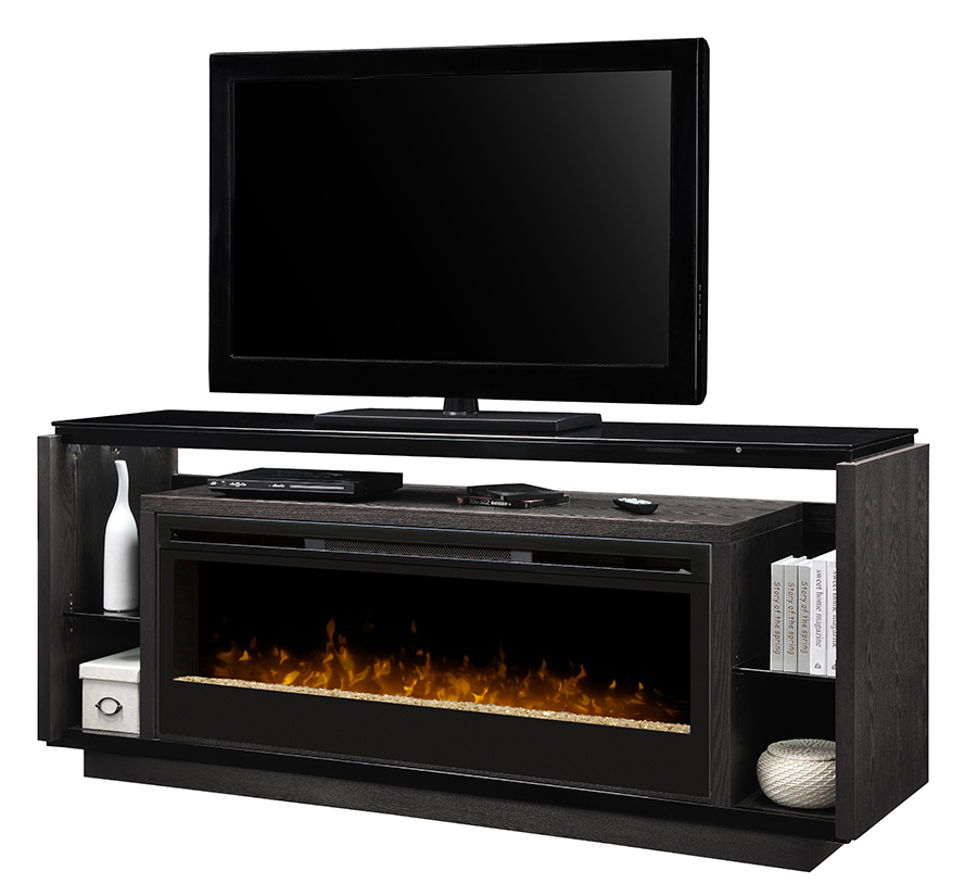 74 Quot Dimplex David Acrylic Ice Media Console Fireplace