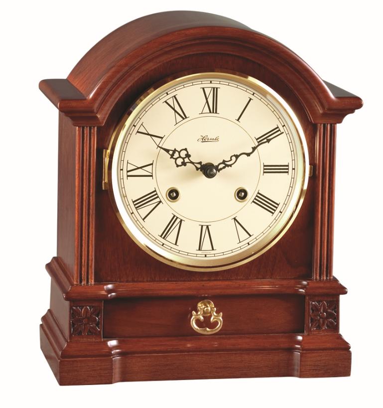 8 Hollins Elegant Cherry Mechanical Hermle Mantel Clock