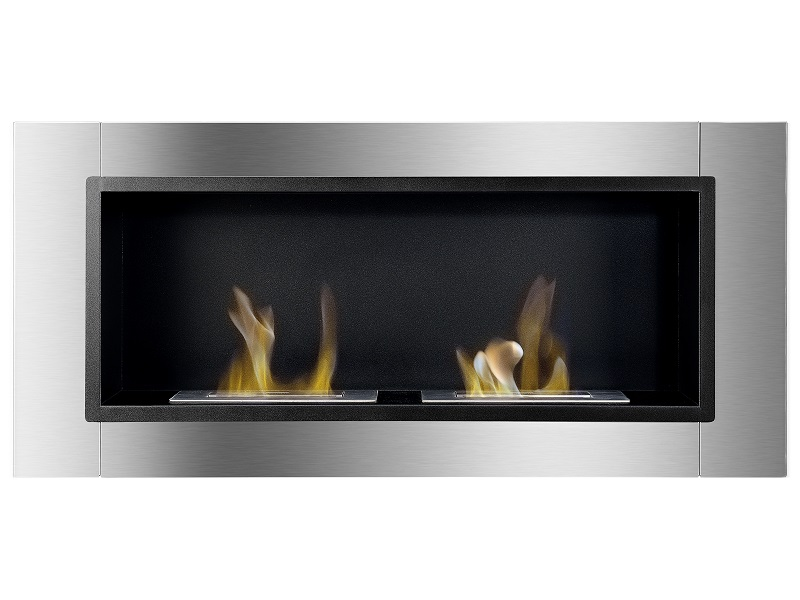 """43 25"""" Ignis Lata Wall Mounted Recessed Ventless Ethanol"""