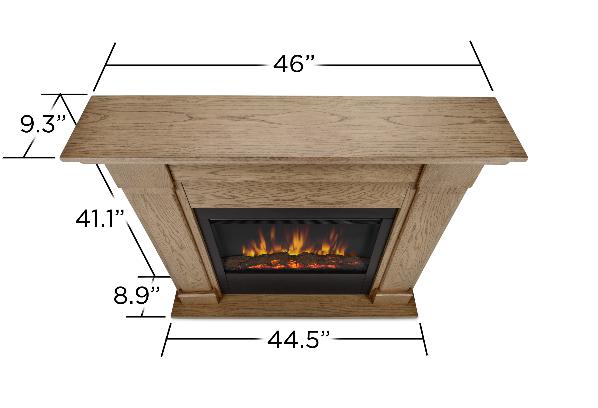 46 Quot Lowry Blonde Oak Slim Line Electric Fireplace