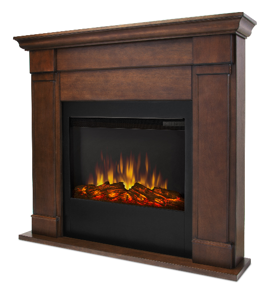 46 Lowry Vintage Black Maple Slim Line Electric Fireplace