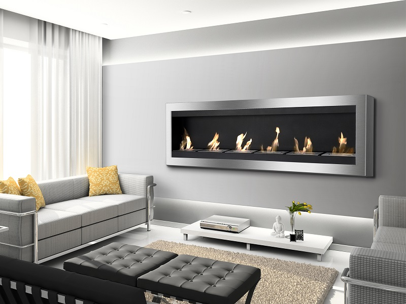 Make a larger area feel more intimate and inviting with the warmth of this Maximum Wall Mounted Ventless Ethanol Fireplace. This large wall mount fireplace is ideal for large rooms or for commercial application in bars or restaurants