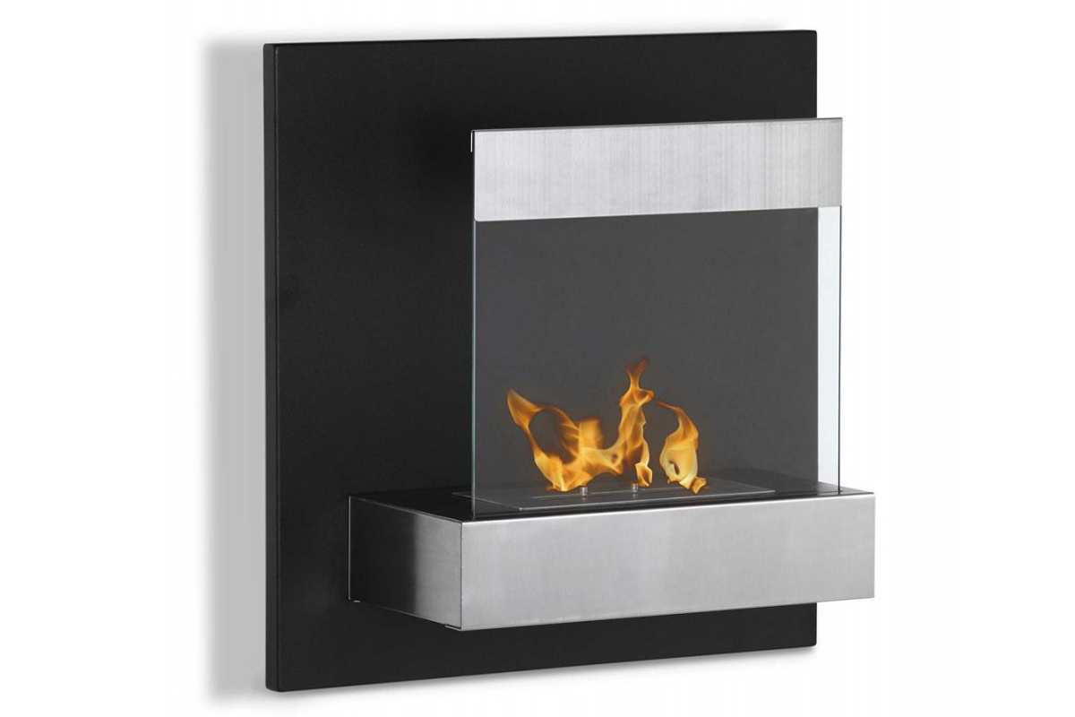 2375quot ignis melina wall mounted ventless ethanol fireplace for Fireplace wall