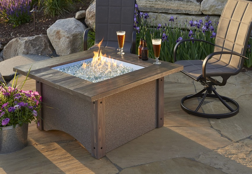 Mocha Sierra Outdoor Fire Pit Table CLONE - Large outdoor fire pit table