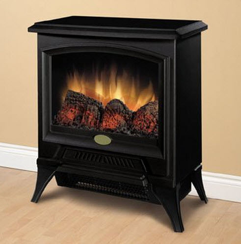 "17.3"" Dimplex Small Electric Fireplace Stove"