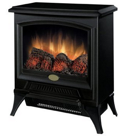 "The 17.3"" Dimplex Small Electric Fireplace Stove is a small space saving stove that is perfect for any small space that can use warmth and charm."