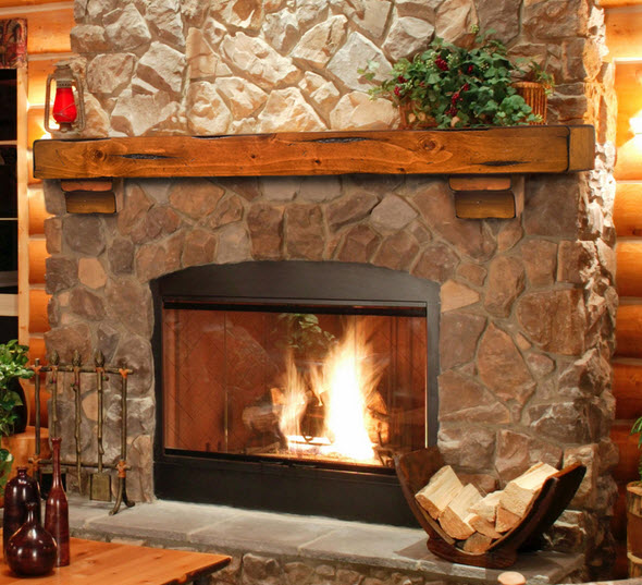 "Wooden Fireplace: 48""/ 60""/ 72"" The Shenandoah Mantel Shelf"