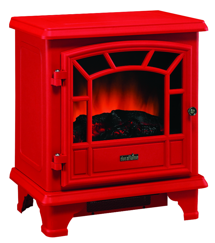 Duraflame Red Stove Electric Fireplace